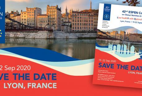 42nd ESPEN Congress 2020, 19-22 settembre, Lione