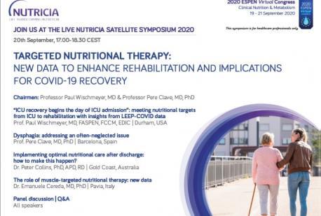 ESPEN 2020 Nutricia Satellite Symposium