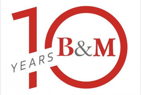 Festeggia con noi il decimo anniversario di B&M!