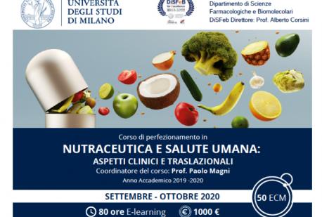 Corso di Perfezionamento in NUTRACEUTICA E SALUTE UMANA - Aspetti clinici e traslazionali