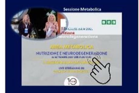 Sessione Metabolica Nutrizione e Neurodegenerazione