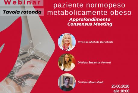 L'individuazione del paziente normopeso metabolicamente obeso - Webinar 25 giugno 2020